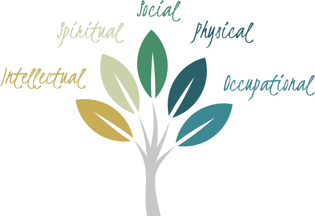 Health Tree: Intellectual, Spiritual, Social, Physical & Occupational Health