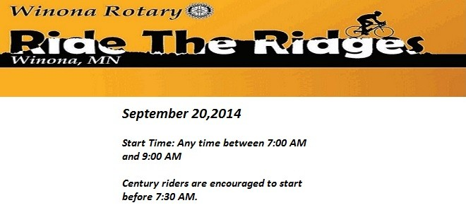 Ride the Ridges – September 20th
