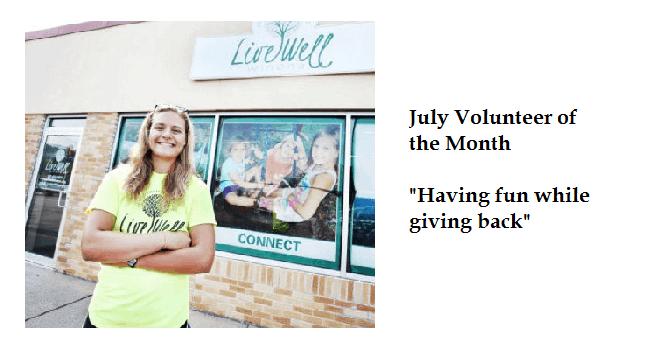 July Volunteer of the Month – Caitlin Courtney