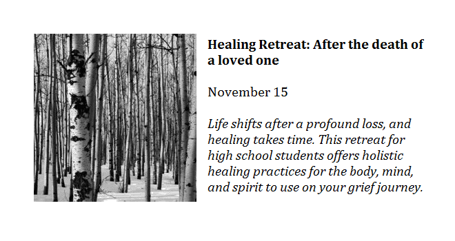 Healing Retreat: After the death of a loved one