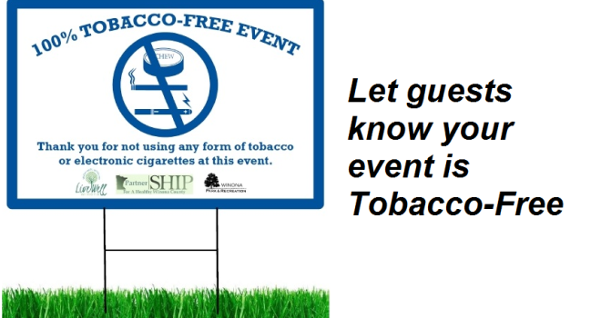 Free use of 'Tobacco-Free Event' signs