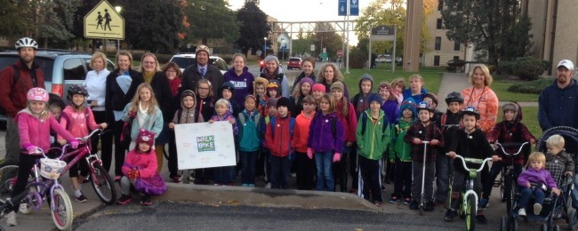 Jefferson STEM Walk to School October 2014