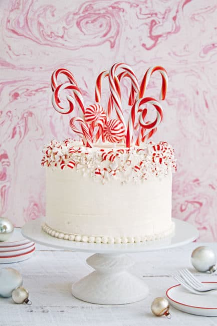 Best Candy Cane Forest Cake